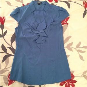 Express Elite Stretch Blouse Blue S